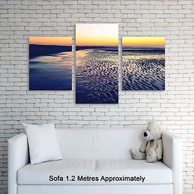 glitter canvases -split prints-Triptych
