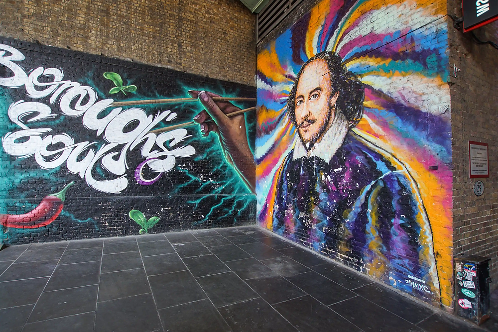 Are there any parts of London where street art is particularly famous?