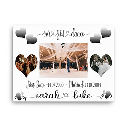 glitter canvases wedding collection