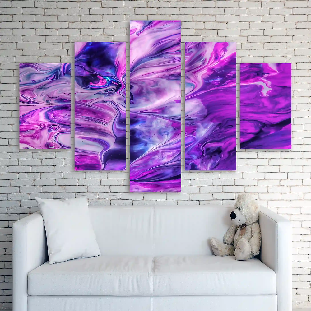 glitter canvases split prints Abstract