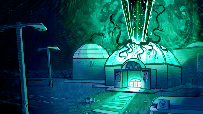 """""""Ghost Mall"""" Colour Key 1"""