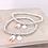Thumbnail: Ballet Shoes Initial Silver 925 Bracelet