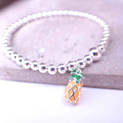 Pineapple Silver 925 Bracelet
