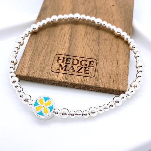Four-Leaf Clover Silver 925 Bracelet