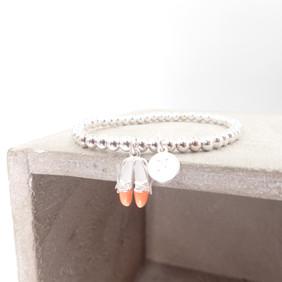 Ballet Shoes Initial Silver 925 Bracelet