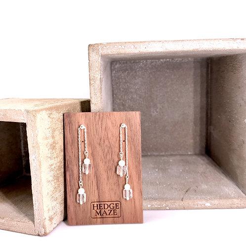 Two Way Silver 925 & Swarovski Crystal Earrings