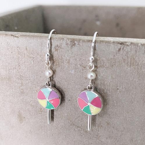 Lollipop Silver 925 & Fresh Water Pearl Earrings