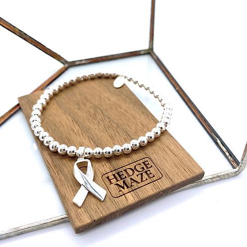 Awareness Ribbons S925 Beads Bracelet