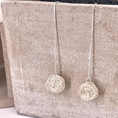 Starry Night Over the Rhone Silver 925 Earrings