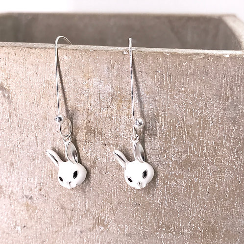 Rabbit Silver 925 Earrings