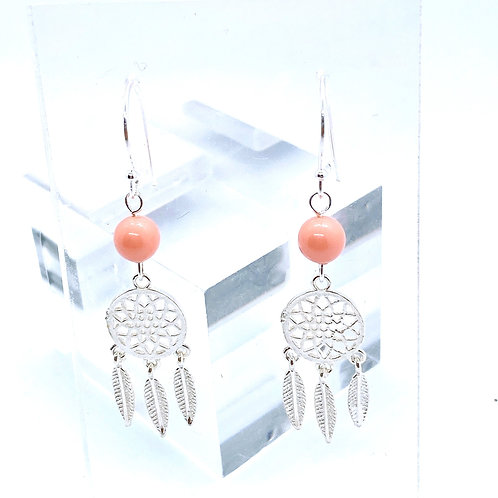 Dream Catcher Silver 925 & Swarovski Crystal Earrings