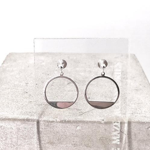 Stylish Circle Silver 925 Earrings