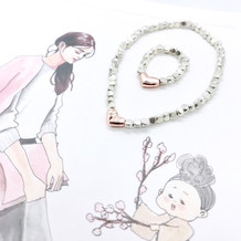 Simple Heart Silver Golden Rose 925 Rhombus Bracelet