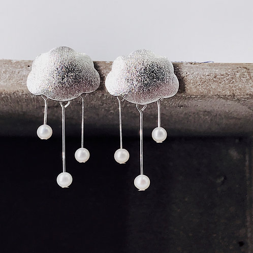 The Somersault Silver 925 & Fresh Water Pearl Earrings