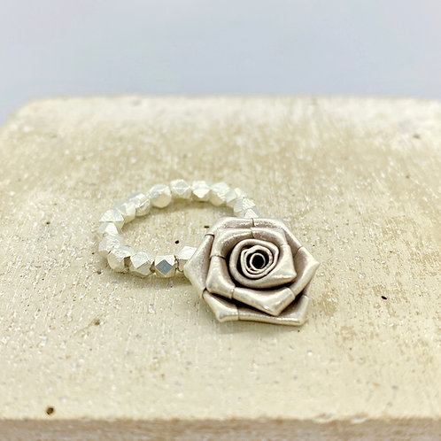 Origami Rose 925 Silver Ring