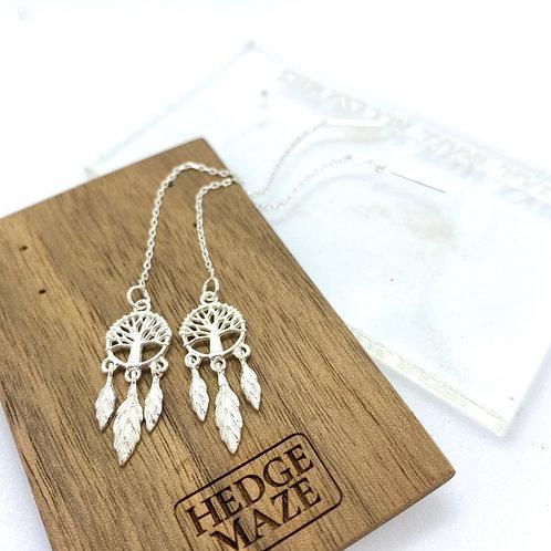 Dream Catcher Silver 925 Earrings