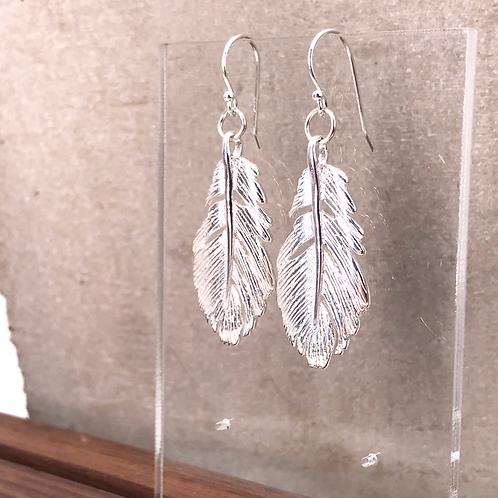 Feather Silver 925 Earrings