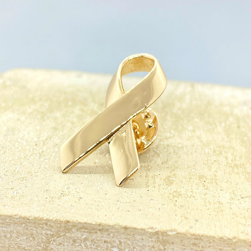 Awareness Ribbons Golden Pin