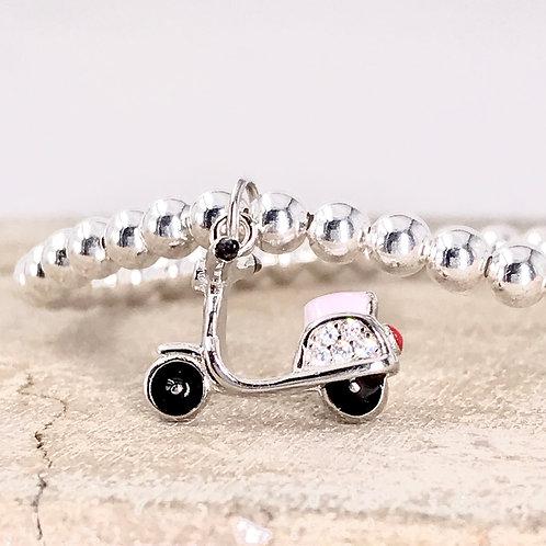 Motorcycle Silver 925 Bracelet