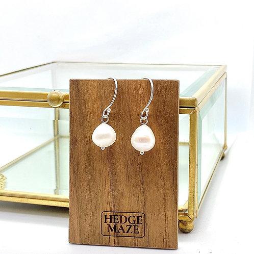 Raindrop Fresh Water Pearl Earrings