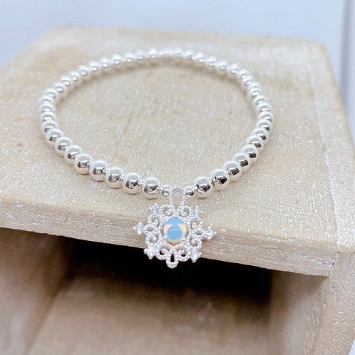 Lace Badge Silver 925 Bracelet