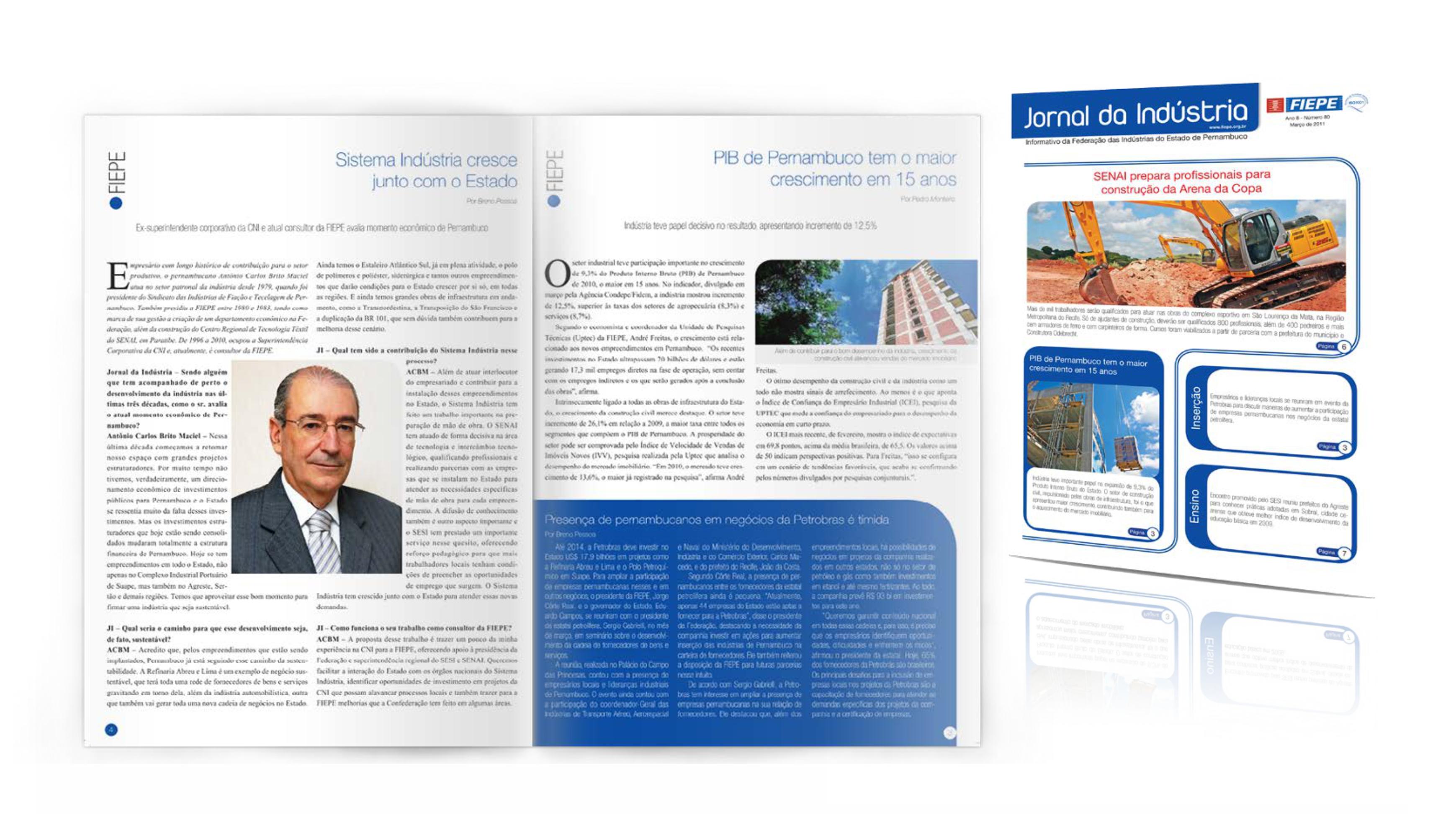 Jornal da Indústria - Design Gráfico e Tratamento de Imagem