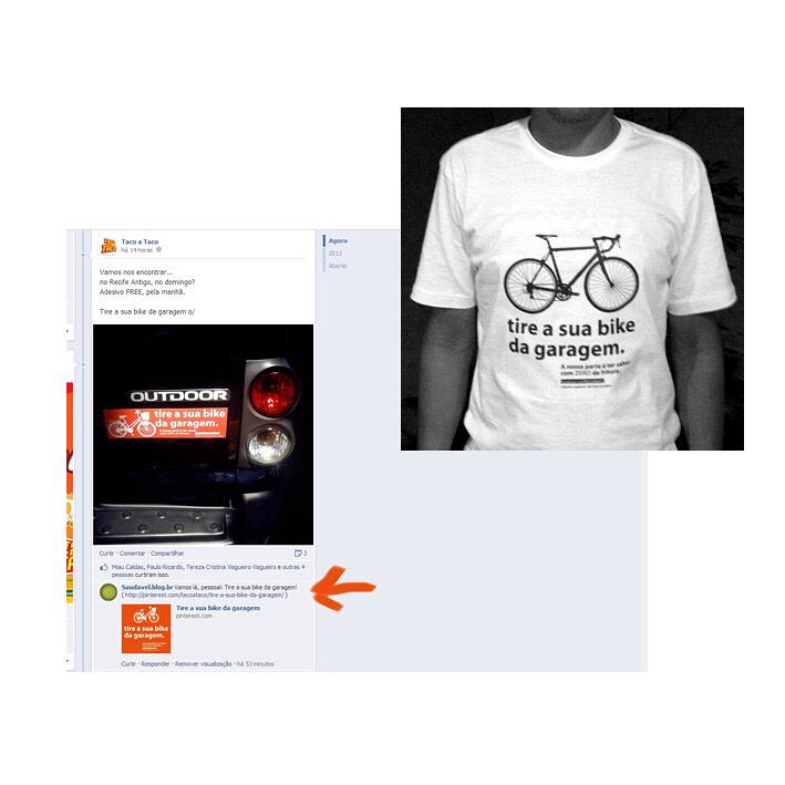 Várias aplicações da Campanha TIre a sua bike da garagem