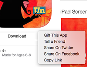 how to gift an app