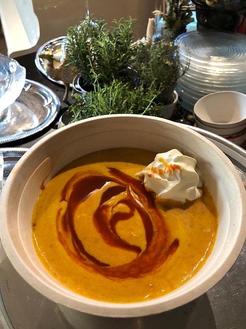 Kürbissuppe mit Kraftcurry