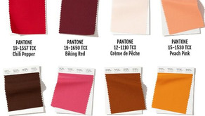 Pantone color inspiration for autumn and winter.