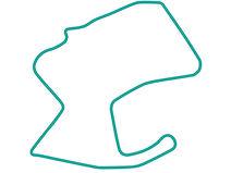 Laguna Seca teal track map