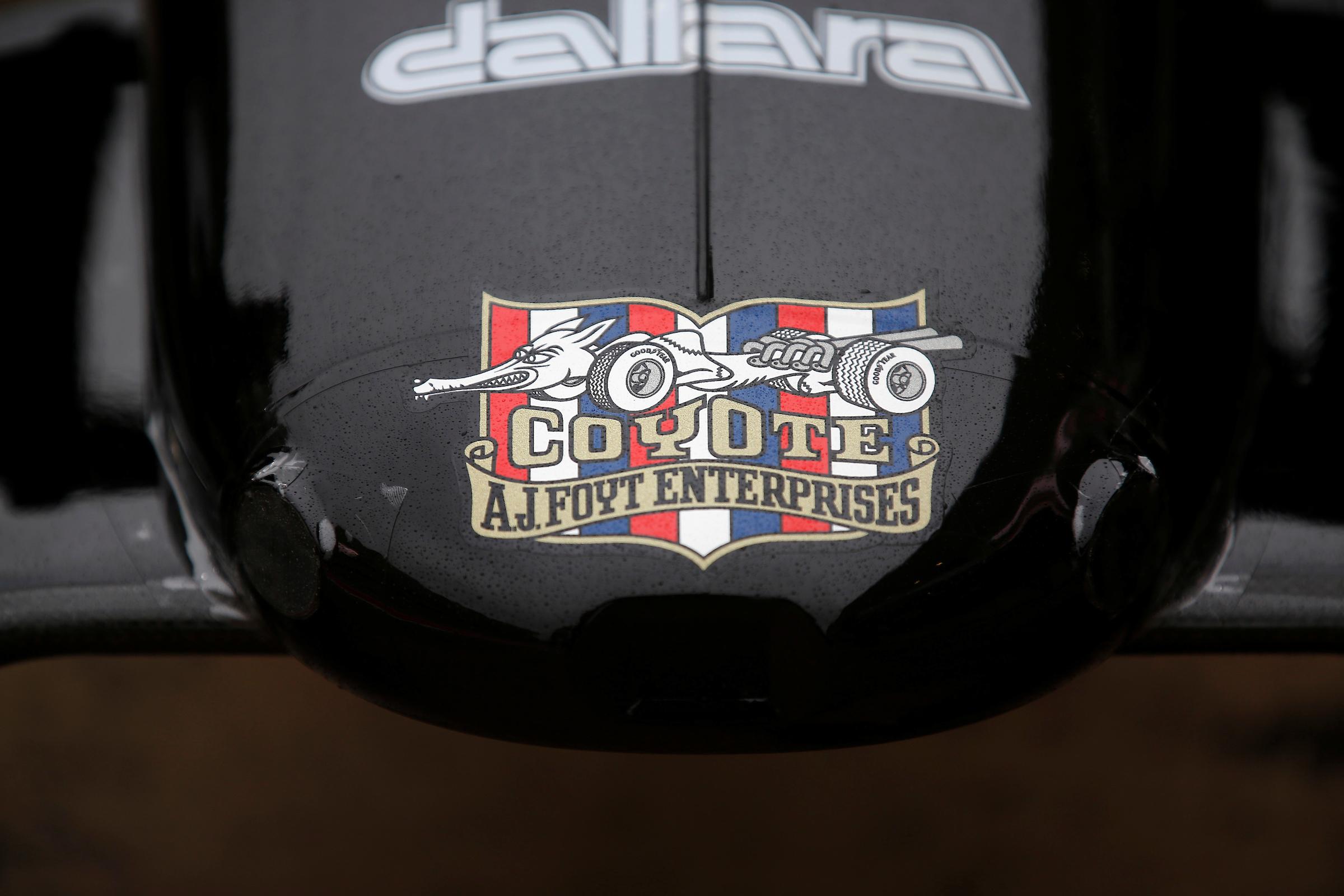AJ Foyt Racing Nosecone - Coyote Logo