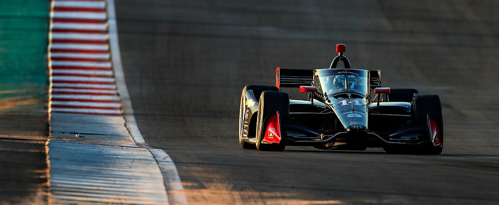 Front view of Dalton Kellett driving #14 AJ Foyt Racing IndyCar