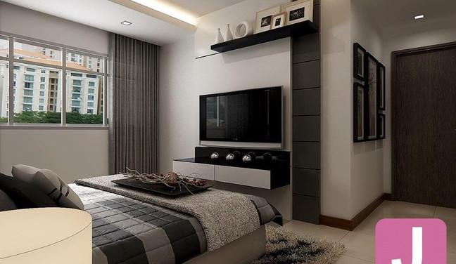 Projeto de decoração de quarto de casal - Moema São Paulo SP
