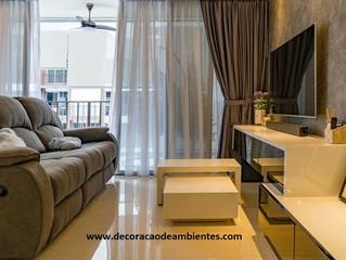 Ideias de decoração moderna para sala pequena. J Tagler Decoração de Interiores RJ SP.