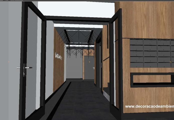 projeto de design de interiores predio residencial