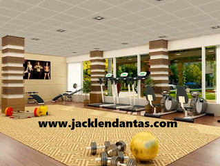 Projeto de decoração para academia de ginástica em condomínio - J Tagler Design de Interiores RJ.