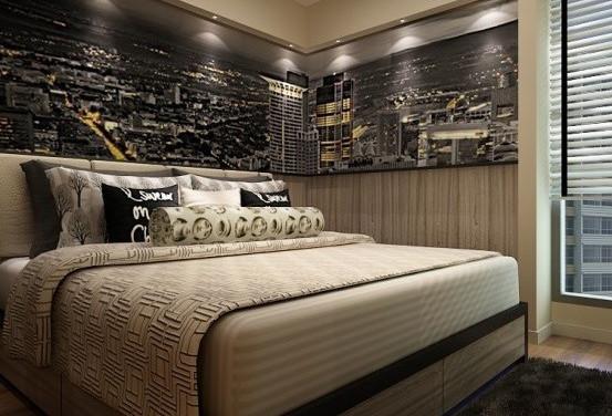 Decoração de quarto de casal pequeno moderno e barato