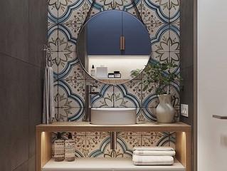 A importância da decoração e organização de um banheiro pequeno.