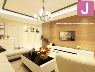 Projetos de decoração para sala de TV - sala de estar.