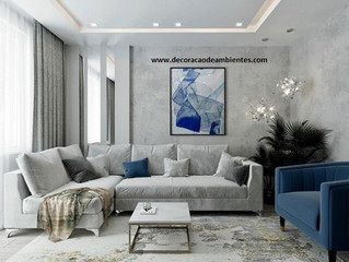 Projeto de decoração para sala de estar gastando pouco - J Tagler Design de Interiores RJ SP .