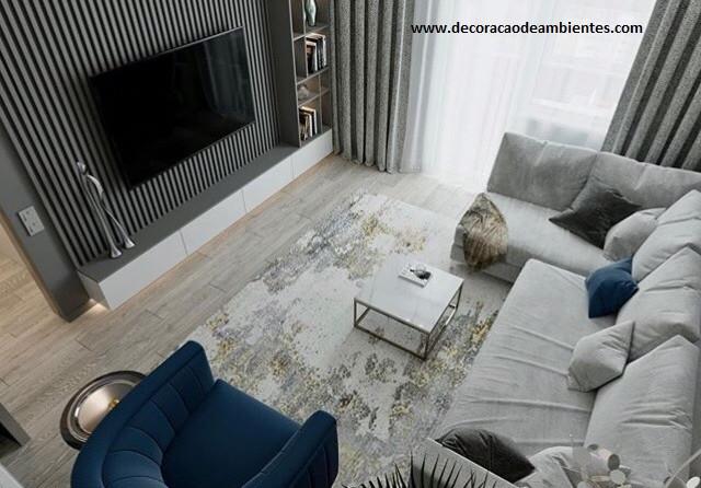 Decoração de sala pequena de apartamento