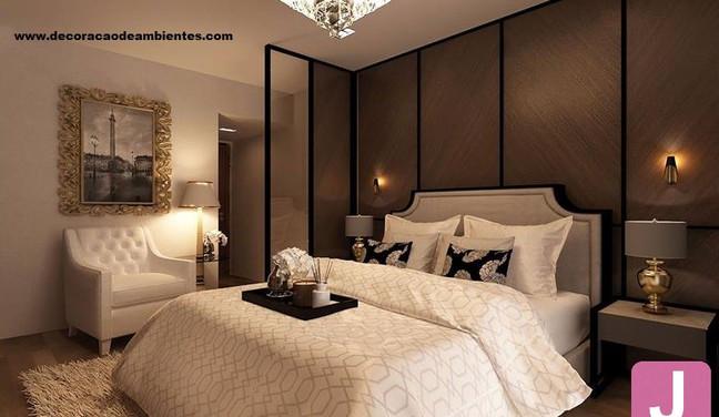 Projeto de decoração estilo neo clássico para quarto de casal pequeno - Mooca - São Paulo SP
