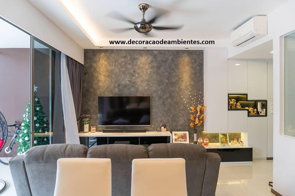 Decoração de sala em apartamento na Barra da Tijuca
