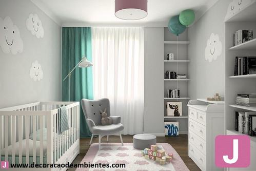 Projeto de decoração de interiores quarto de bebe menino
