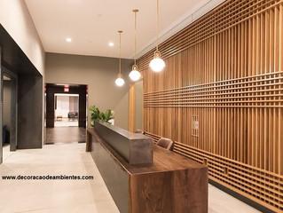 Projeto de decoração para recepção e hall de edifício - condomínio - prédio residencial - J Tagler