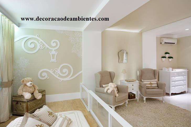 decoração quarto bebe masculino bege simples