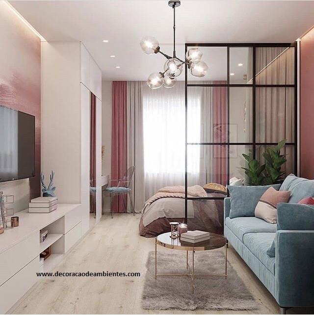 Decoração de apartamento conjugado pequeno