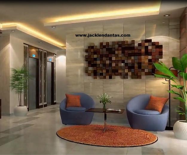 Projeto de decoraç u00e3o para recepç u00e3o e hall de edifício condomínio p -> Decoração De Hall Social De Prédio