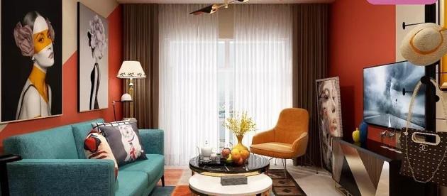 Projeto de decoração para sala de apartamento alugado no Rio de Janeiro.